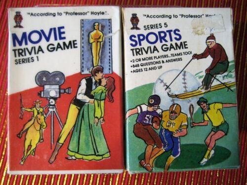 "Pocket Trivia Cards 1984 ""Professor Hoyle"" Movie Sports"