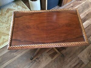 Decorative wood side table