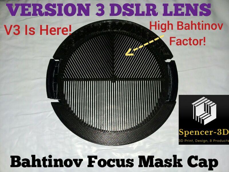 77mm Thread DSLR Camera Lense Bahtinov Mask CAP (VERSION THREE MODEL)