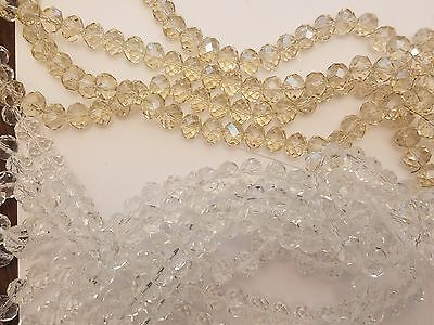 Handmade Faceted Abacus Glass Beads, Imitation Austrian Crystal, 10x7mm, Hole: 1