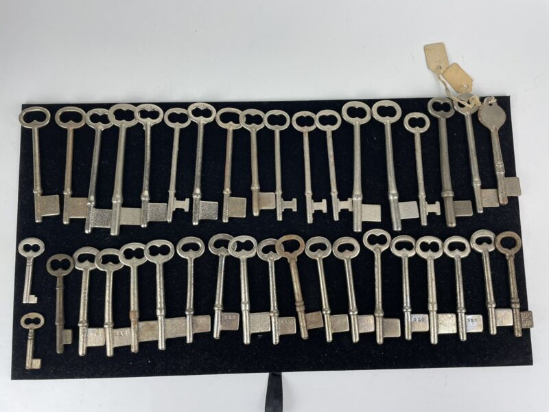 Mixed Lot of 38 Antique Uncut Skeleton Key Blanks
