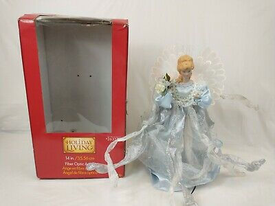 "Holiday Living 14"" Fiber Optic Angel Christmas Tree Topper/Table Piece-Beautiful"