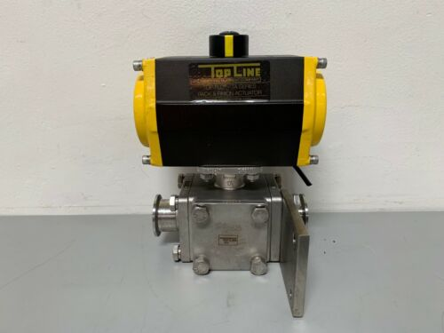 TopLine TS083-6 Top-Flo TA Series Pneumatic Rack & Pinion Actuator 80 PSI