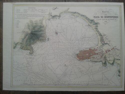 Montevideo 1854. map plano