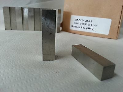 Alnico V Square Bar Cast An Ground 38sq X 1.5 Long Magnetized Length 1 Each