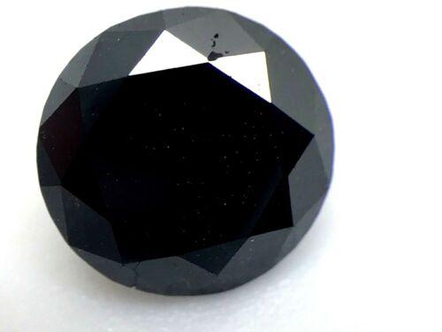 Round Cut Loose Natural Diamond 1.25 Carat Black Irradiated Enhanced