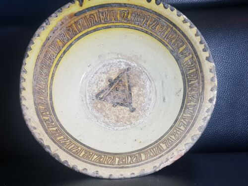 Islamic ghaznavid rare decorated with nice patterns ceramic dish 10th century