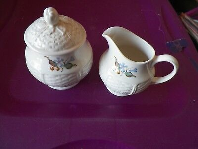 Wedgwood Londonderry cream and sugar 1 available