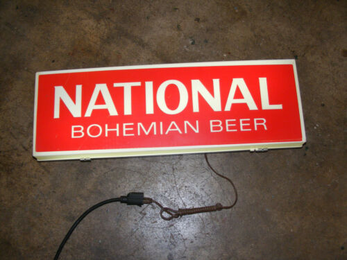 Vintage Electric Lighted National Bohemian Beer Advertising Sign Man Cave Bar