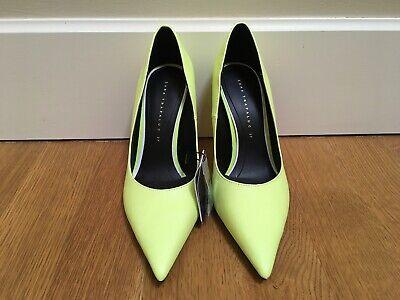 Zara Yellow High Heel Court Shoes 37/6.5