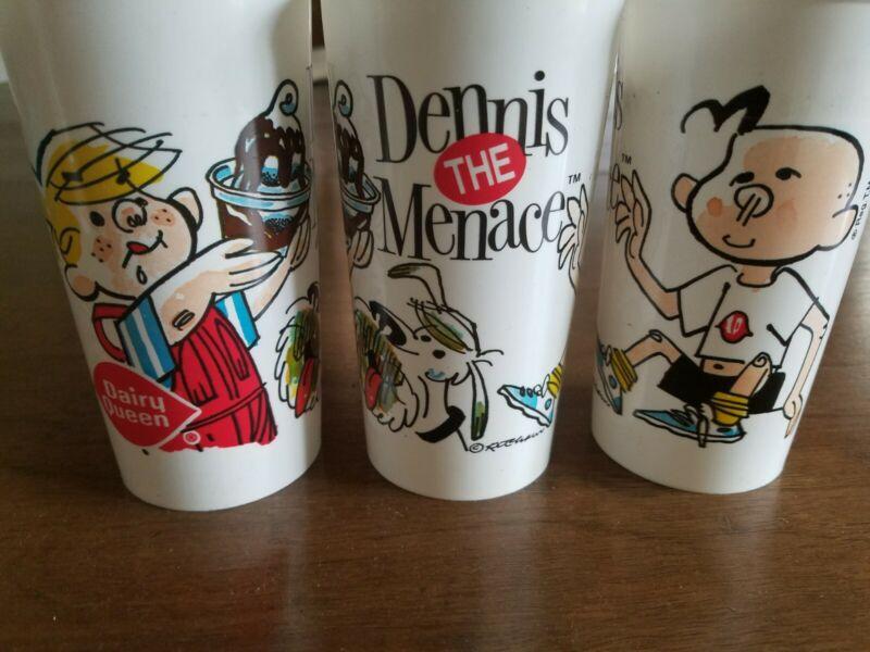 Vintage Dennis The Menace Plastic Dairy Queen Cup