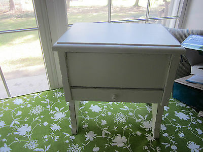 Antique shabby bench/stool from shoe shine box. -