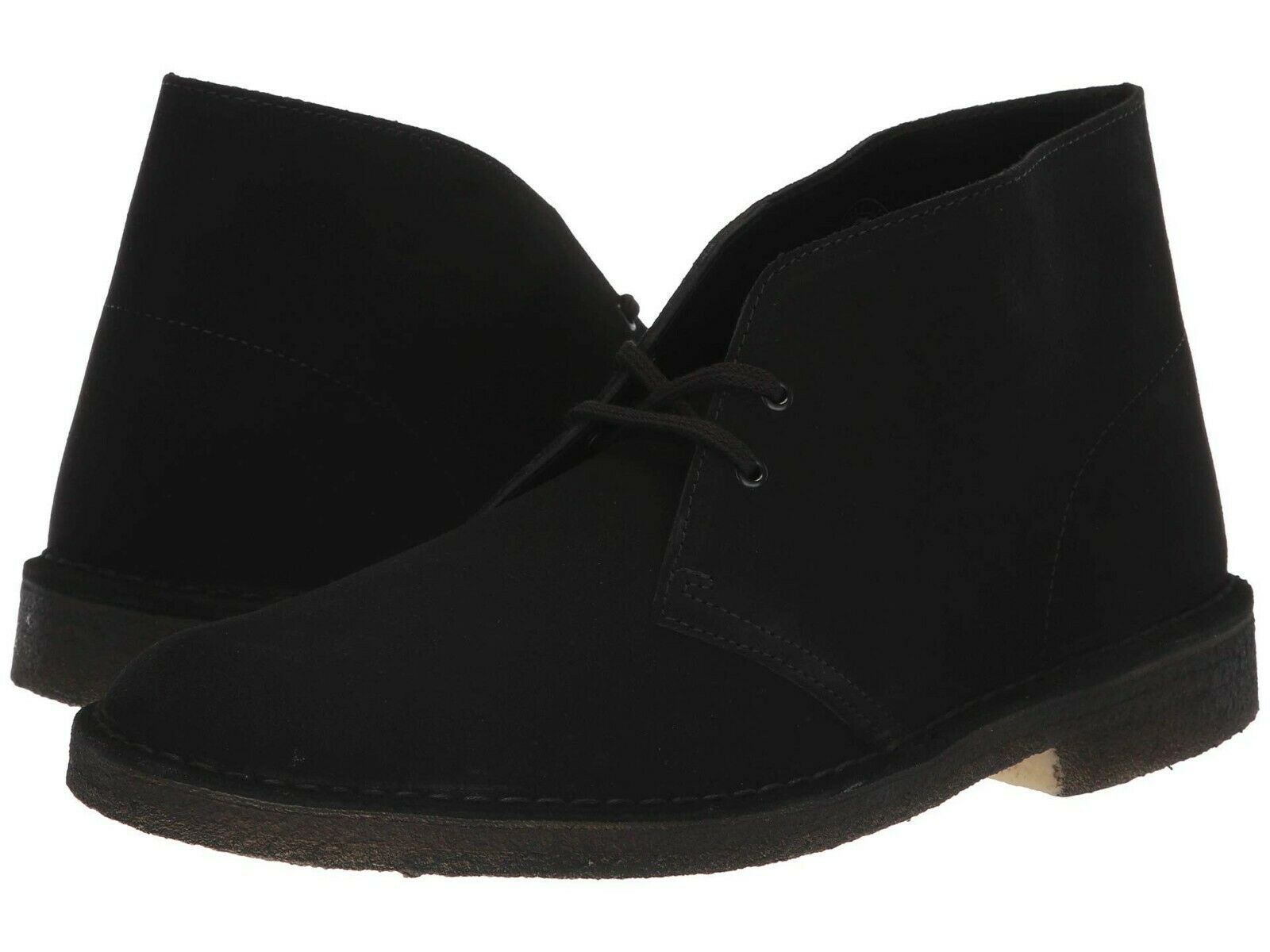 Men's Shoes Clarks Originals DESERT BOOT Chukkas 38227 BLACK SUEDE
