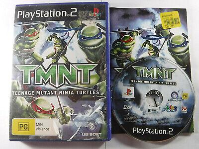 TMNT Teenage Mutant Ninja Turtles PS2 Playstation 2 MINT DISC