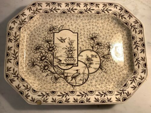 Ridgways Transferware Aesthetic Movement - Devonshire - Large platter brown