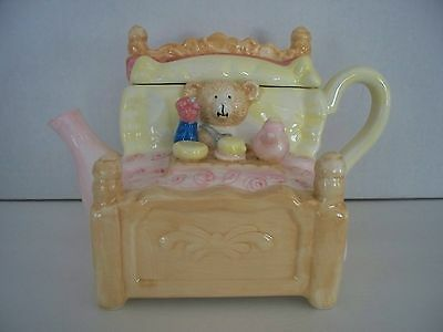 Hallmark Teddy Bear BED Theme Mini Teapot Children Party Girl Houston Harvest (Kids Party Houston)