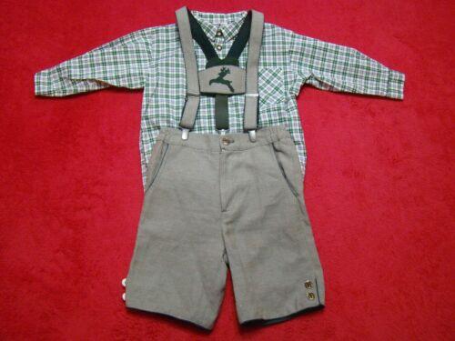 Original Lanz Salzburg Boys Size 86 12 months Bavarian Linen Lederhosen Outfit
