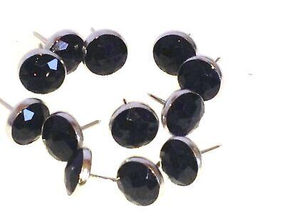 50 Qualitäts Ziernägel Polsternägel Nagel -Made in Germany- 11mm schwarz Diamant (Schwarz, Polster-nägel)