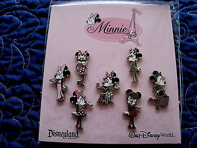 Disney * MINNIE - GLAMOUR POSES * New in Package - 7 Pin Booster Set