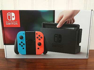 Nintendo Switch Console Neon Red Blue Joy-Con  FREE EXPEDITED SHIPPING