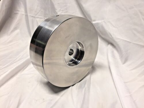 "Belt Grinder Drive Wheel 7"" Diameter, 5/8"" Shaft for 2X72 Knife Grinder Balanced"