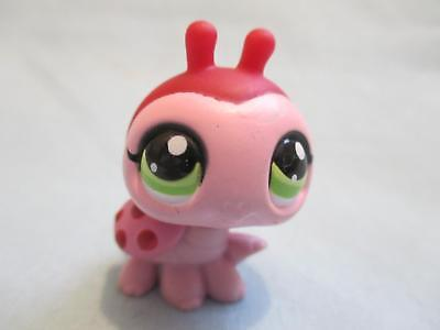 Littlest Pet Shop Ladybug Pink Red Spot  with Green Eyes 1474  Authentic Lps