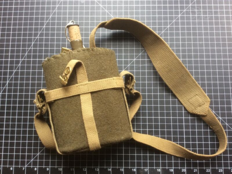 WW2 British Army Canteen with Felt And Hanger