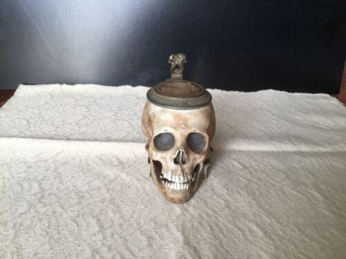 AUTHENTIC ERNST BOHNE SÖHNE Figural Skull Beer Stein