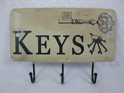 Blech Schlüsselbrett  14cm rustikal  Stil Handtuchhalter  Hakenleiste Keys