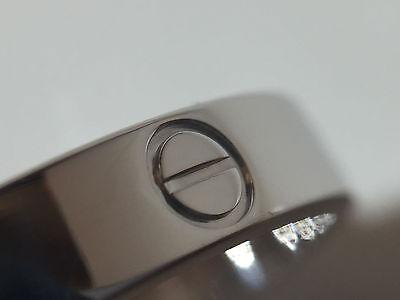CARTIER MINI LOVE Ring Gr.61 750/000 Weißgold mit Geschenkox