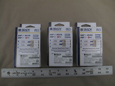 3 New Brady Label Cartridge M21-375-499-tb Terminal Blockpatch Panel Bmp21