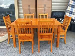 TODAY DELIVERY BEAUTIFUL 7 pcs SOLID WOOD Dining table Belmont Belmont Area Preview