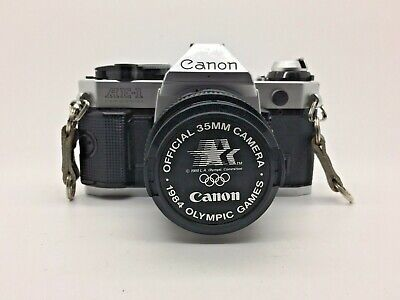 Canon AE-1 Program 35mm Film Manual Camera + 50mm f/1.8 Lens