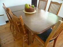 DINING TABLE 4 / 6 SEATER EXTENDS FROM 4 TO 6 SOLID + 5 CHAIRS Hurstville Hurstville Area Preview