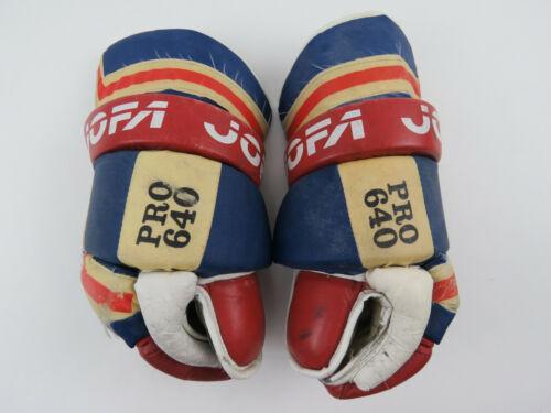"Vintage JOFA 640 JOFA Montreal Canadiens NHL Pro Stock Hockey Player Gloves 14"""