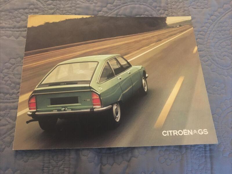 Rare CITROEN GS  GS1220 Brochure Gatefold French