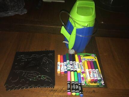 Crayola Marker Airbrush Kit & Crayola Glow Crazy Tent | Toys - Indoor | Gumtree Australia ...