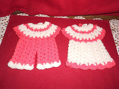 VINTAGE PAIR HANDMADE POT HOLDERS!     BUY IT NOW!    A+ COND!    L@@K!