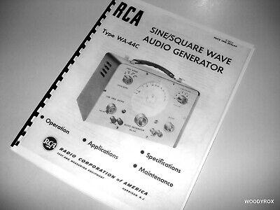 Rca Wa-44c Sine Square Audio Signal Generator Manual Foldout Schematic