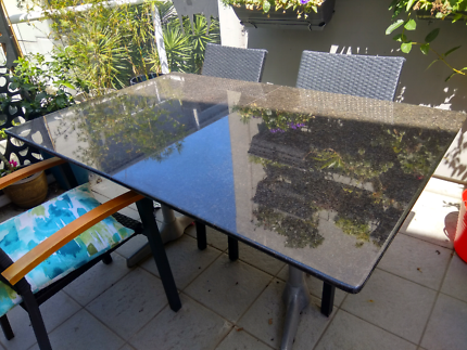 Black Granite Top Indoor/outdoor Table. $50.00. Fortitude Valley Part 71