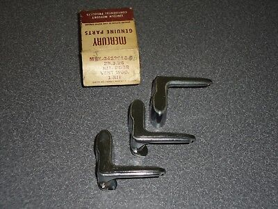 Lot of (3) Factory 1957 Mercury Wing Vent Quarter Window Handle MHK-6422916-C