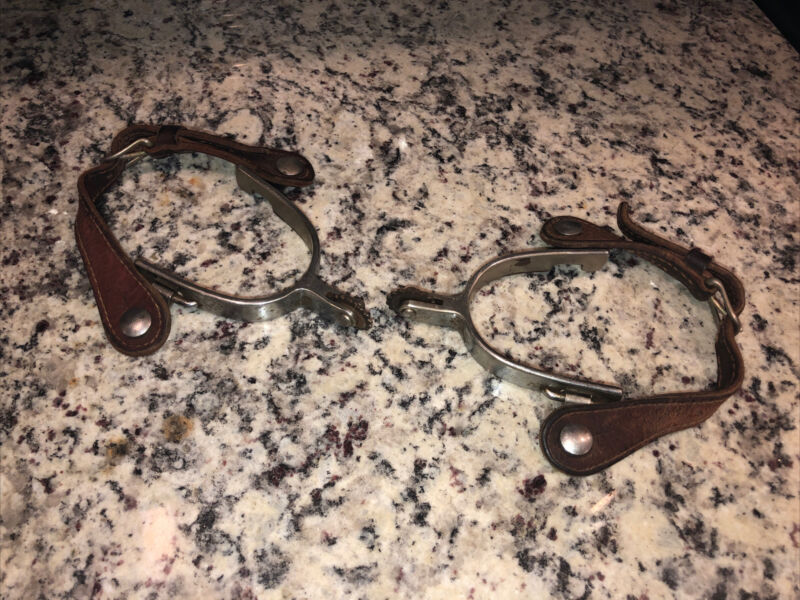 old cowboy spurs tac boots western Made In USA