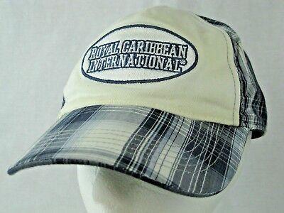 Royal Caribbean International Blue Plaid Embroidered Strapback Dad Hat Cap