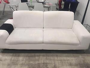 Sofa Set (3 and 1 seater ) white colour leather look Revesby Heights Bankstown Area Preview