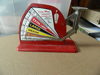 Co Vintage Style Brower Mfg JIFFY WAY Quincy ILL Tin Poultry Egg Scale