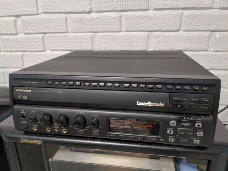 Pioneer CLD-V720 CD CDV LaserDisc Player And Karaoke — Working!