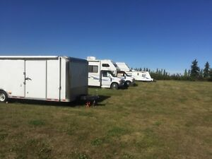 RV, motor home and holiday trailer Parking