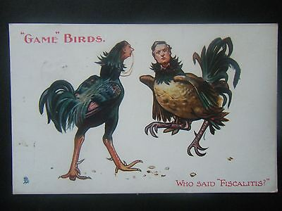 Early Comic Tucks Political Postcard Game Birds