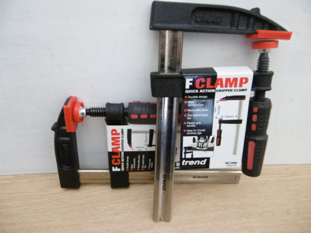 PAIR OF TREND  200MM X 100MM QUICK GRIP F CLAMPS FC/200