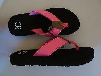 NEW Girl Youth Large *2-3* XL *4-5* OP Hot Pink Flip Flops Yoga Sandals Junior